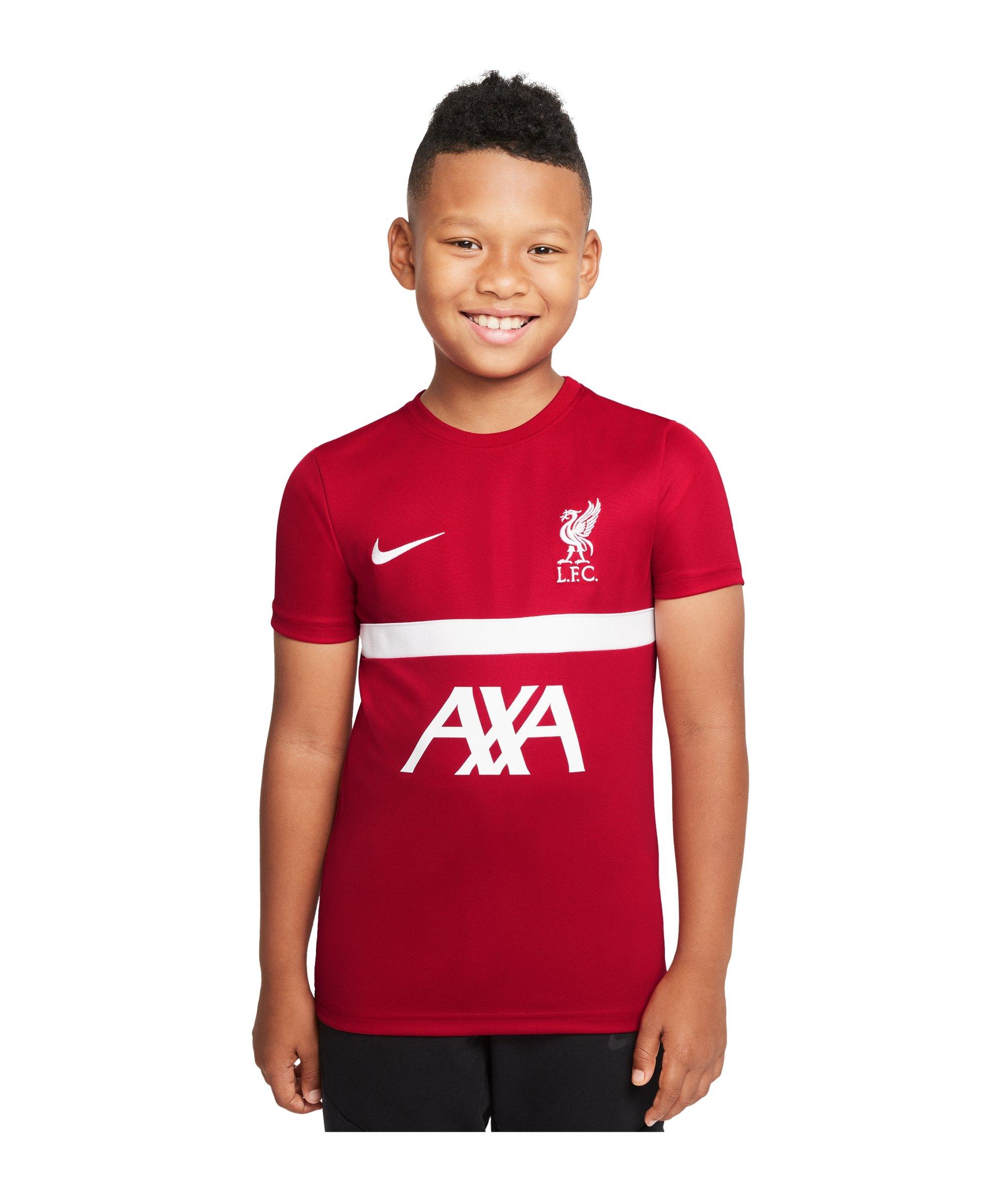 Nike FC Liverpool Trainingsshirt Kids Rot F687 - rot