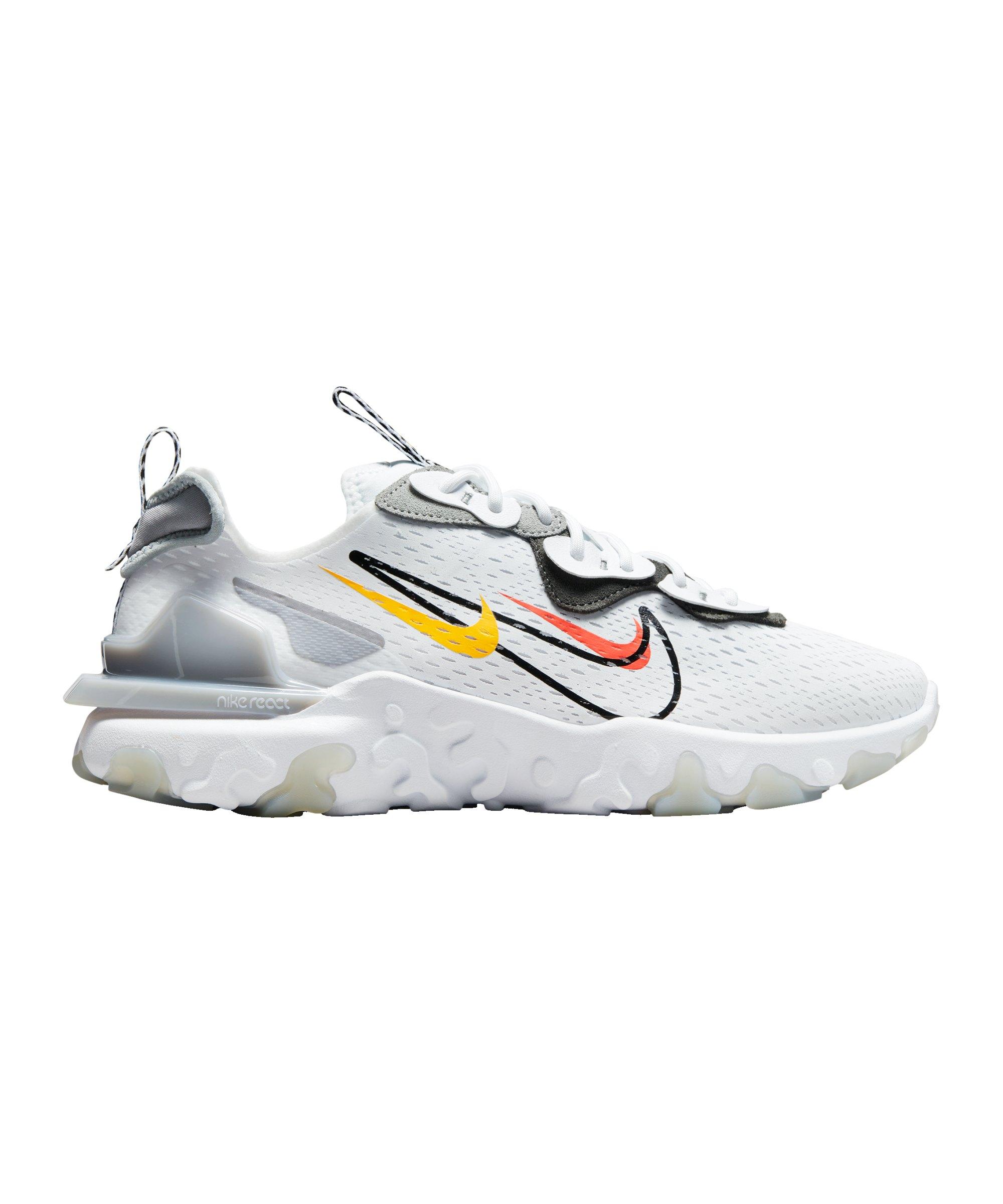 Nike React Vision Running Weiss Schwarz F101 - weiss