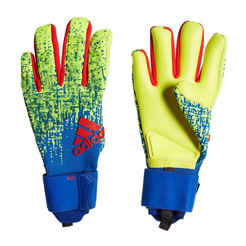 adidas Predator Pro TW-Handschuh Gelb Blau - gelb