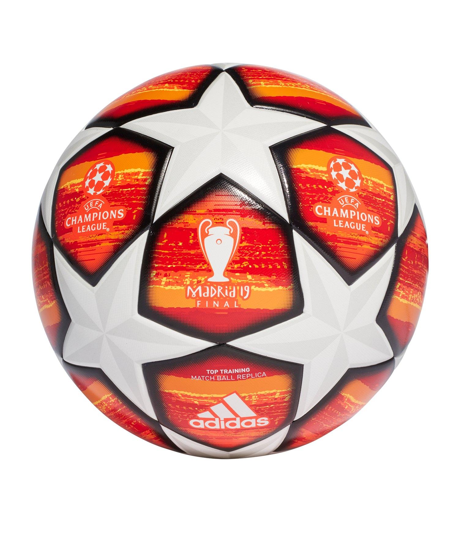 adidas Finale M Trainingsball Weiss Rot - weiss