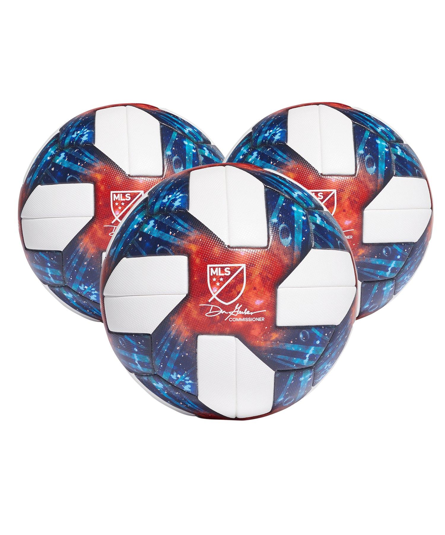adidas MLS OMB 3x Spielball Weiss - weiss