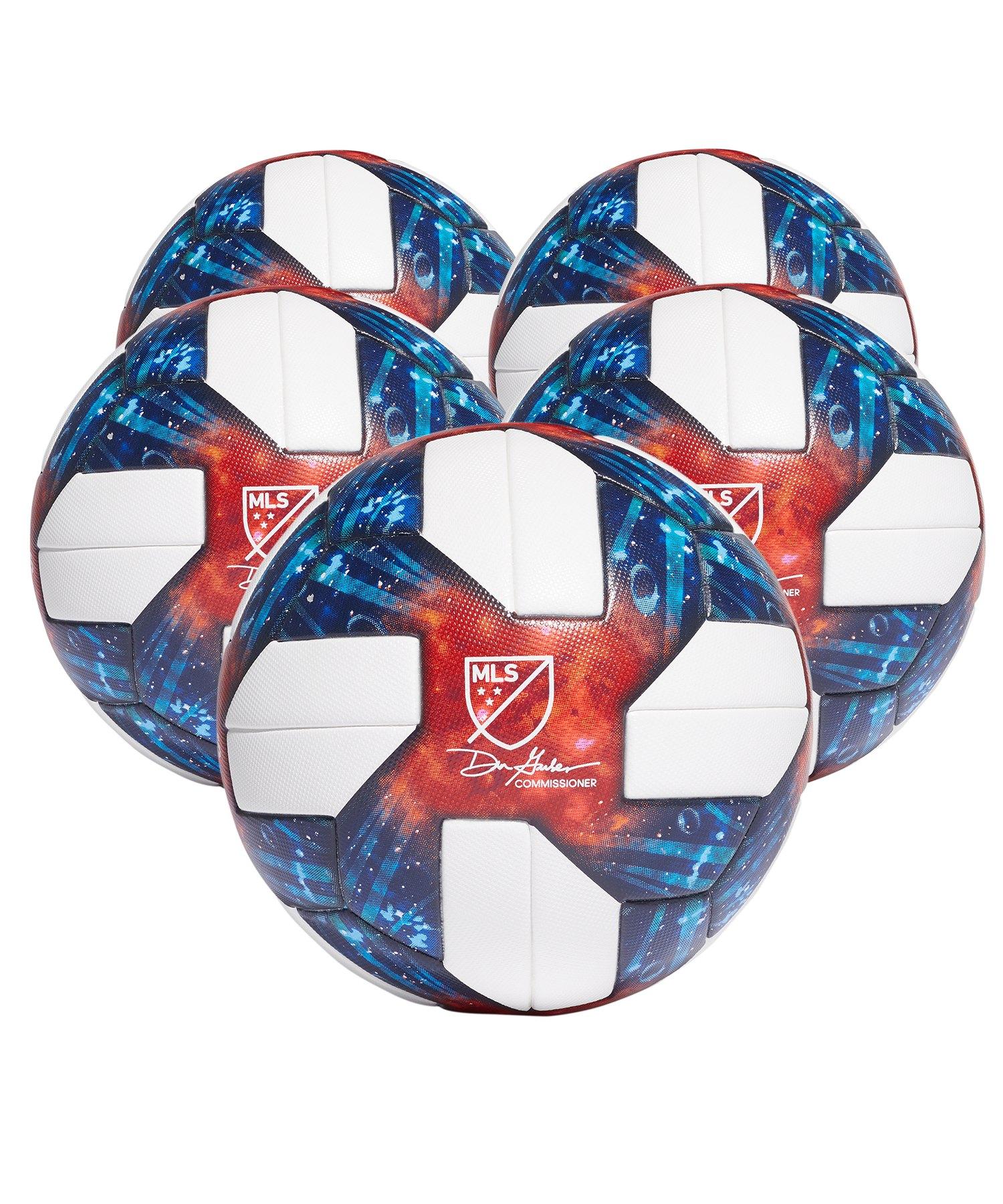 adidas MLS OMB 5x Spielball Weiss - weiss