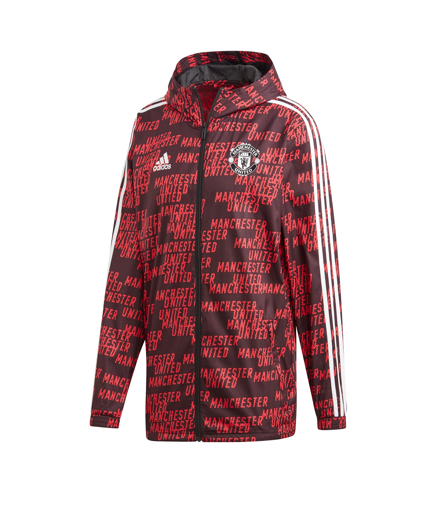adidas Manchester United Windbreaker Jacke Schwarz - schwarz
