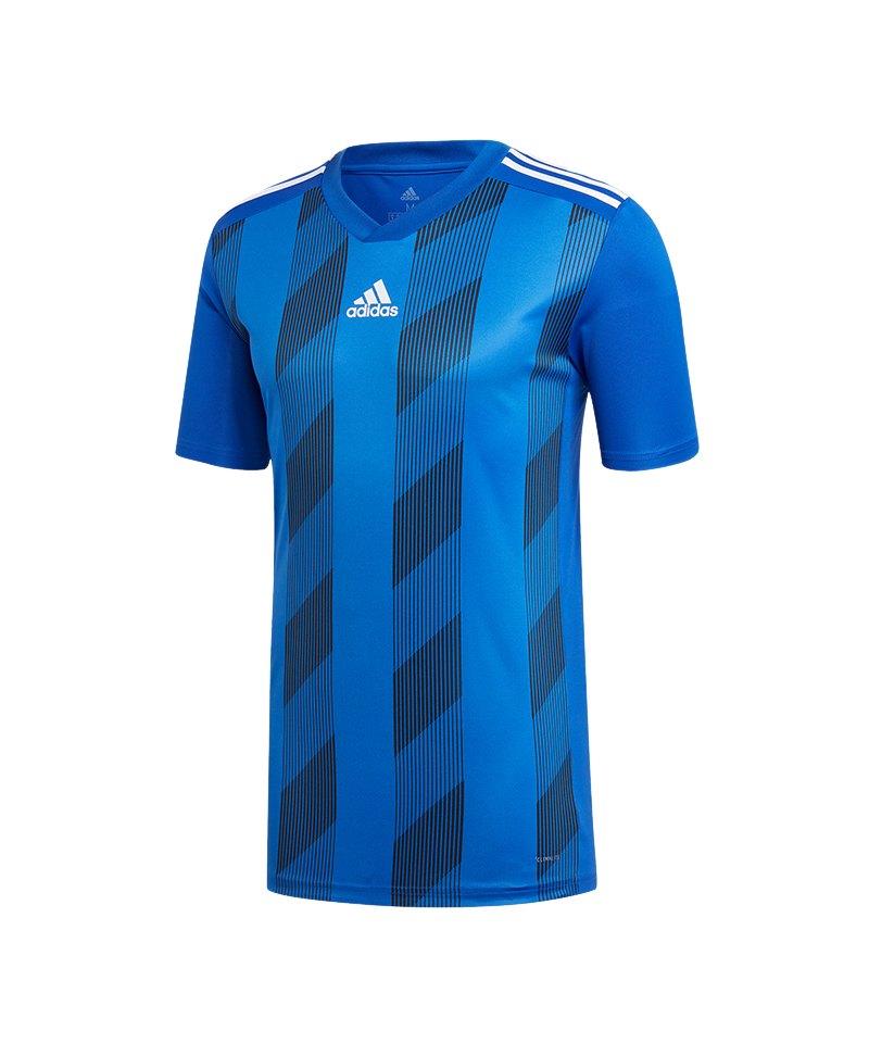 adidas Striped 19 Trikot kurzarm Blau Schwarz - blau