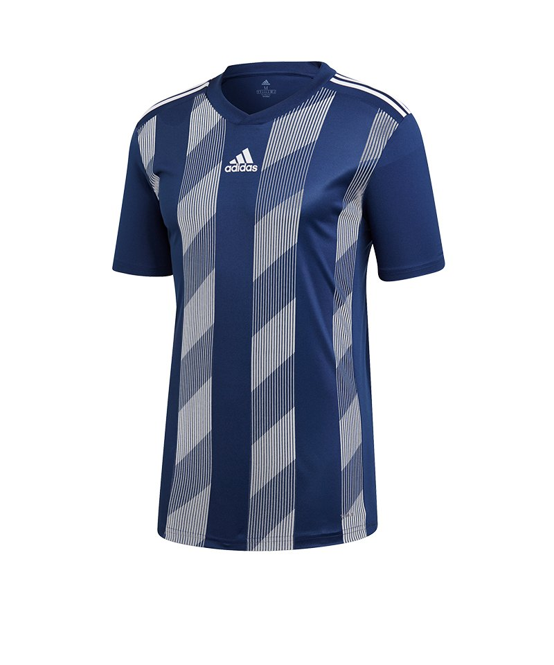 adidas Striped 19 Trikot kurzarm Kids Dunkelblau - blau