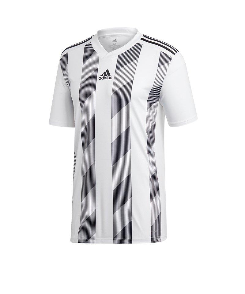 adidas Striped 19 Trikot kurzarm Weiss Schwarz - weiss