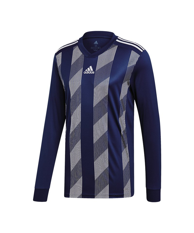 adidas Striped 19 Trikot langarm Dunkelblau Weiss - blau