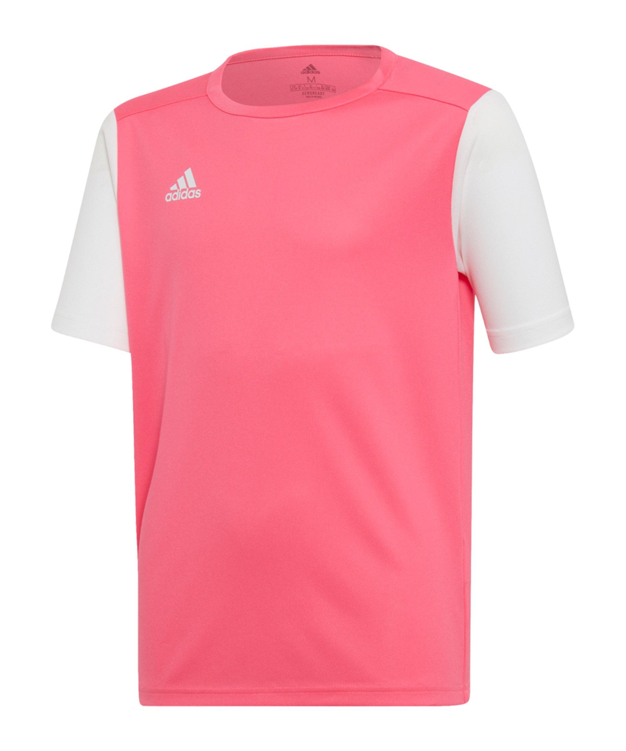 adidas Estro 19 Trikot kurzarm Kids Pink Weiss - pink