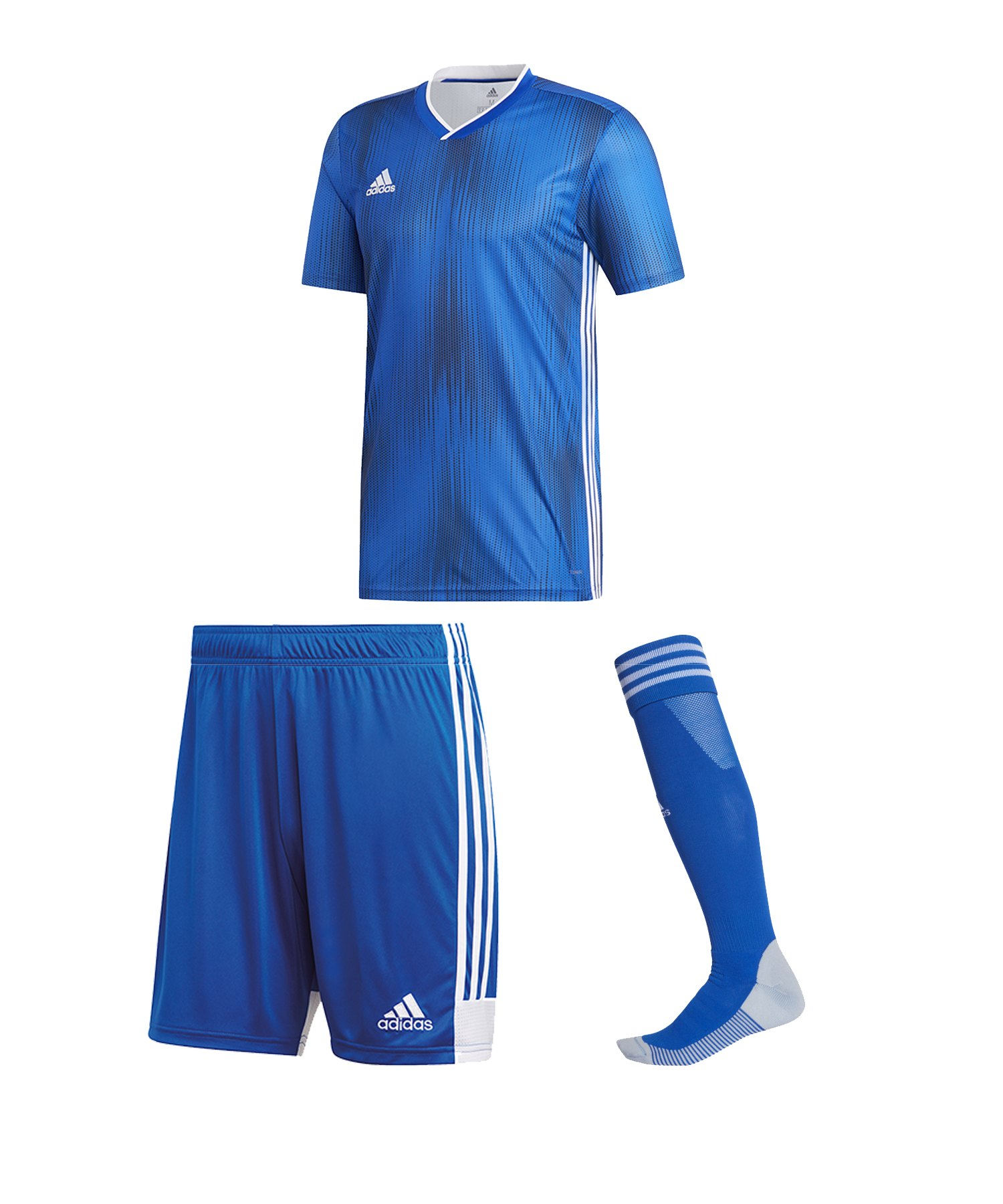 adidas Tiro 19 Trikotset kurzarm Blau Weiss - blau