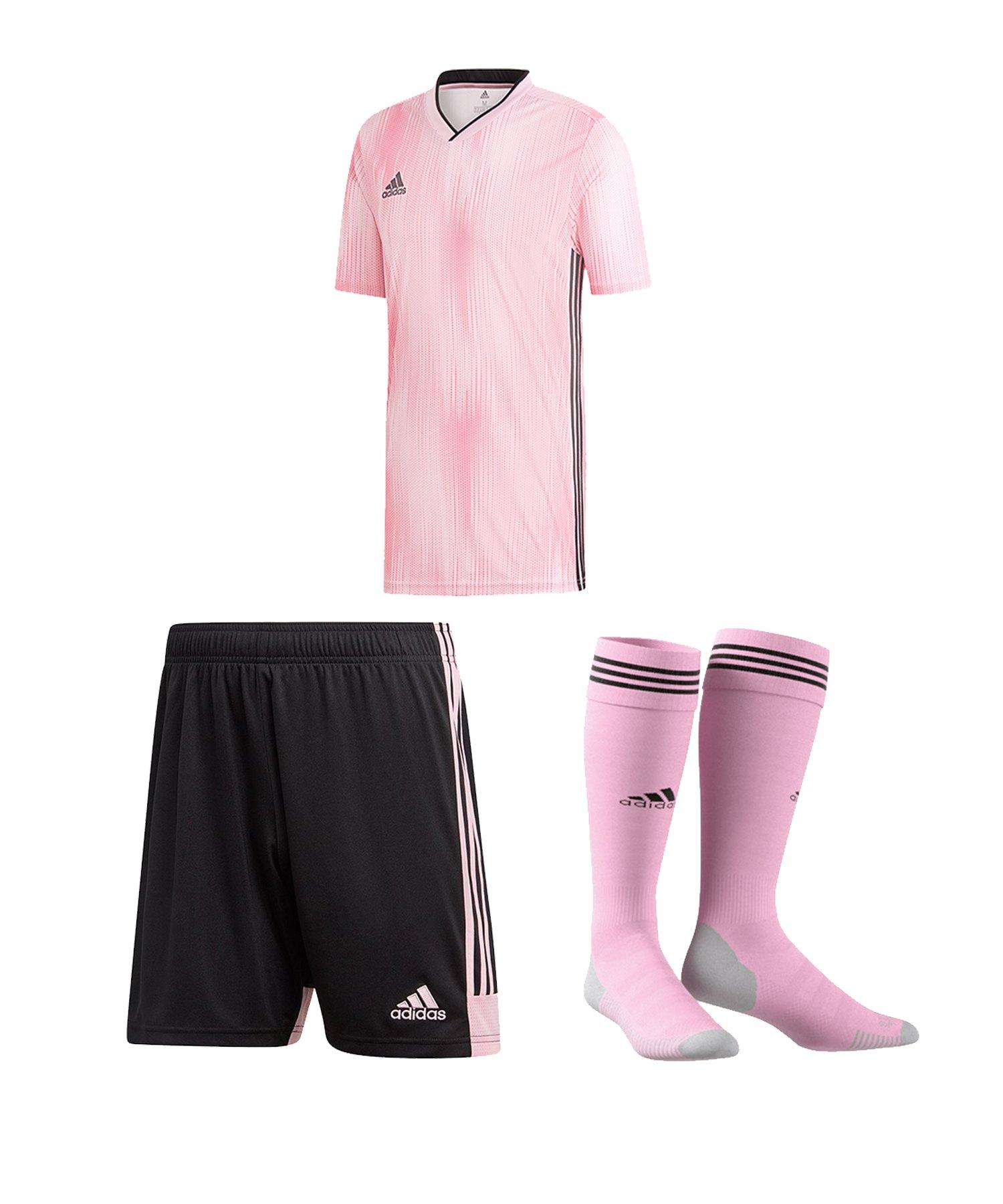 adidas Tiro 19 Trikotset kurzarm Pink Schwarz - pink