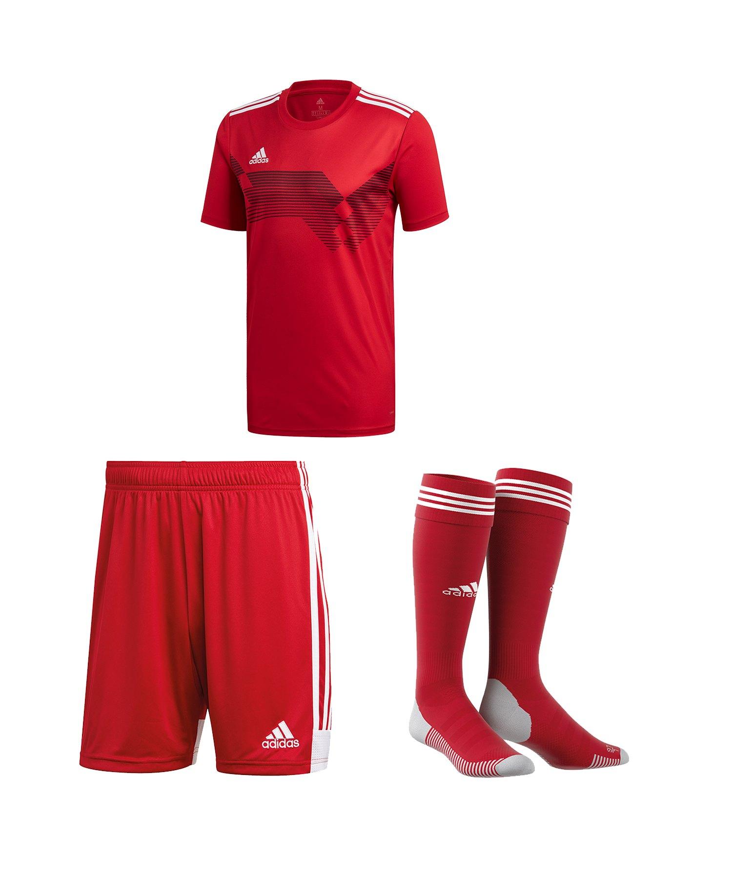 adidas Campeon 19 Trikotset Rot Weiss - rot