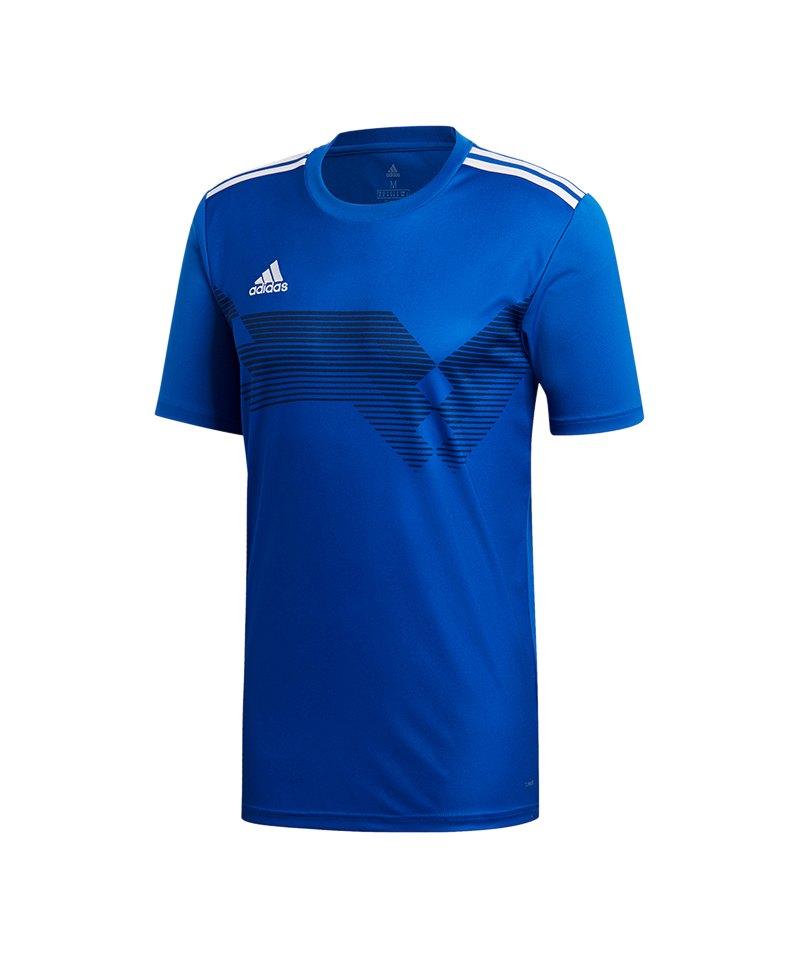 adidas Campeon 19 Trikot Kids Blau Weiss - blau
