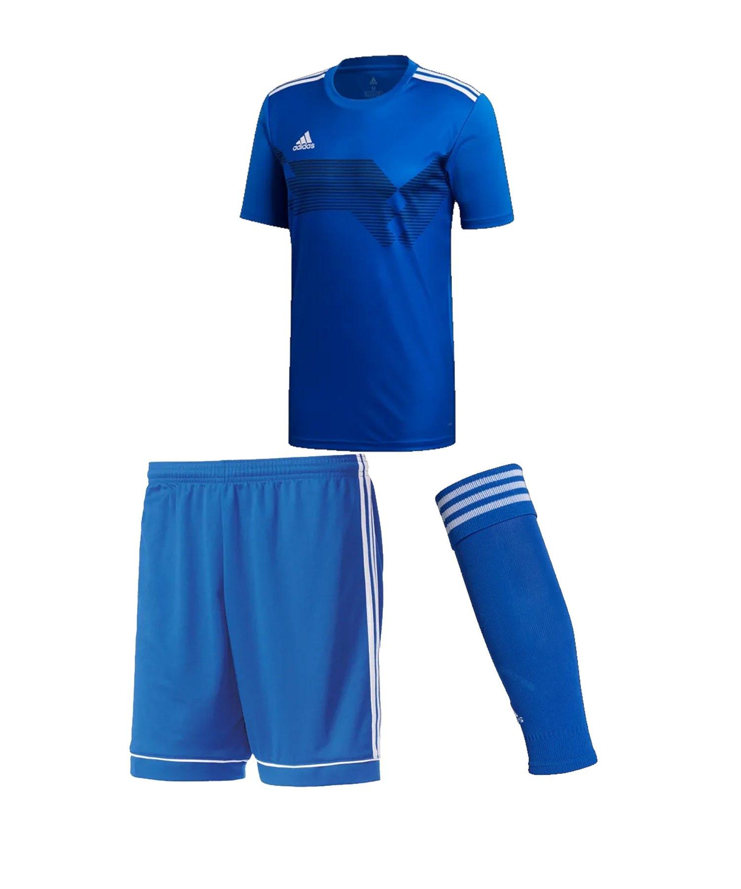 adidas Campeon 19 Trikotset Kids Blau Weiss - blau