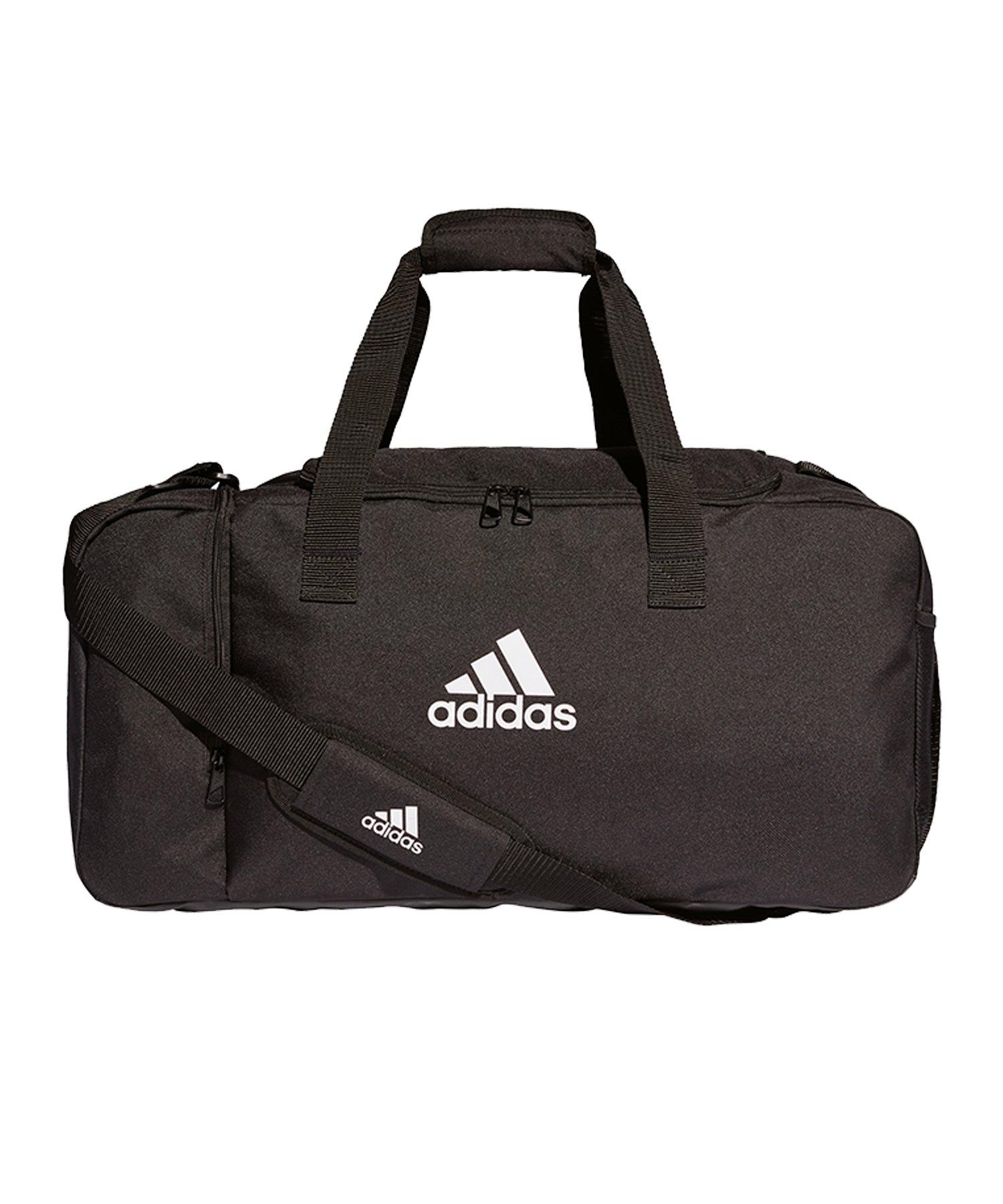 adidas Tiro Duffel Bag Gr. M Schwarz Weiss - schwarz