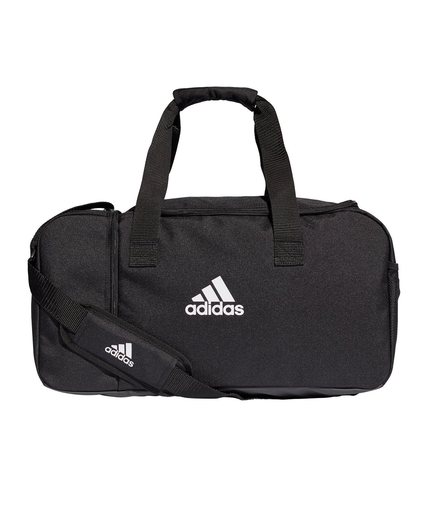 adidas Tiro Duffel Bag Gr. S Schwarz Weiss - schwarz