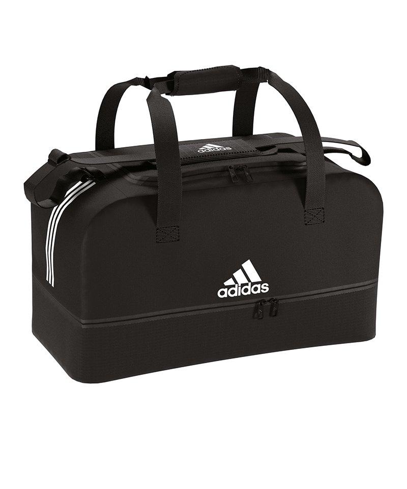 adidas Tiro Duffel Bag Gr. L mit Bodenfach Schwarz - schwarz