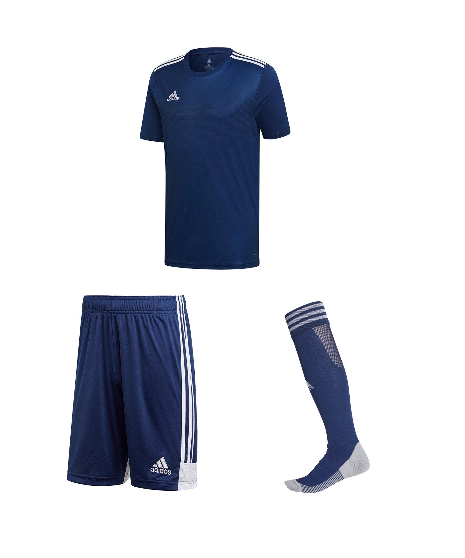 adidas Campeon 19 Trikotset Dunkelblau Weiss - blau
