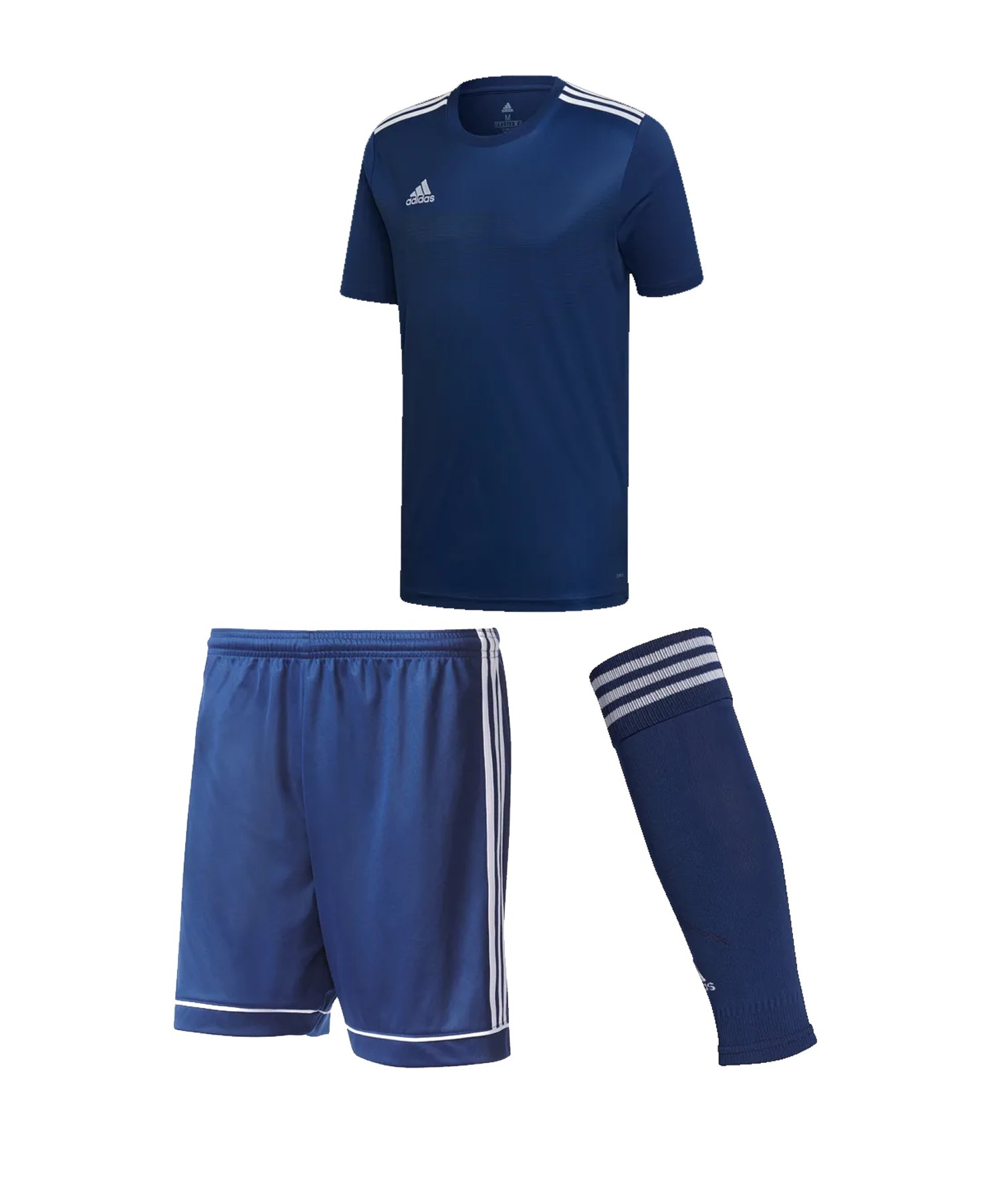 adidas Campeon 19 Trikotset Kids Dunkelblau Weiss - blau