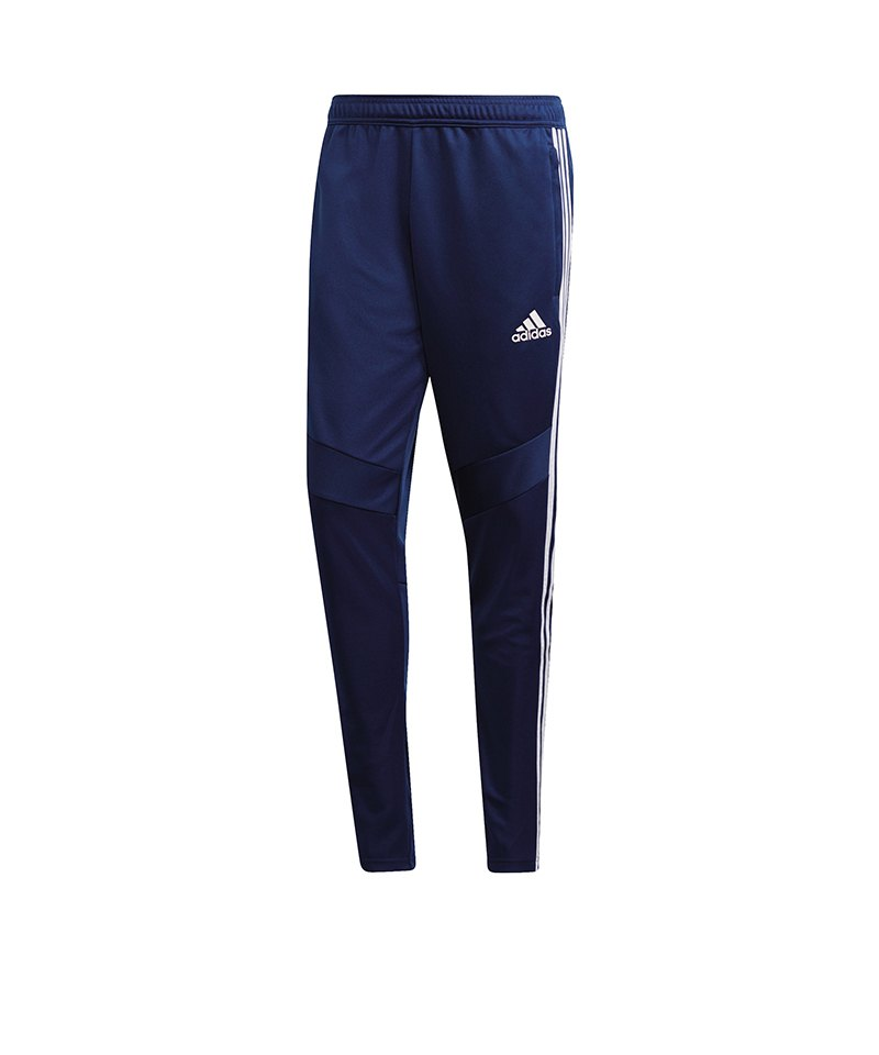 adidas Tiro 19 Trainingshose Pant Dunkelblau Weiss - blau