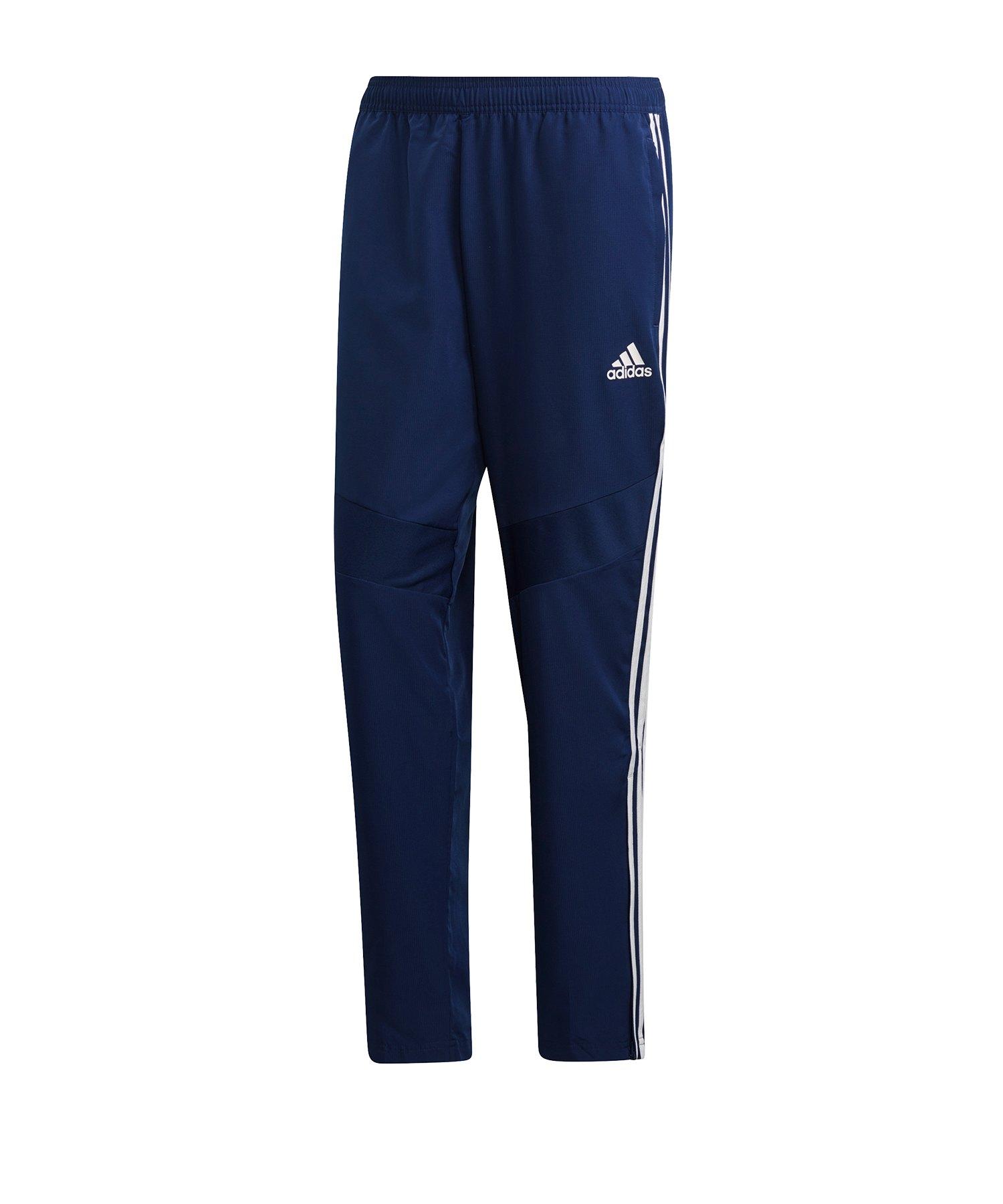 adidas Tiro 19 Woven Pant Dunkelblau Weiss - blau