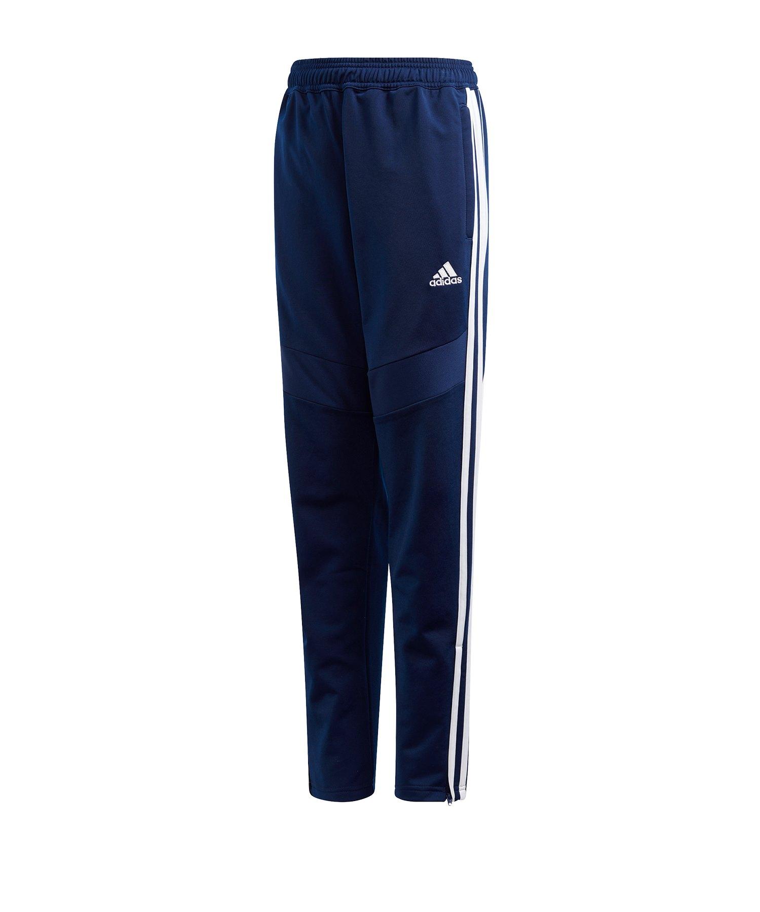 adidas Tiro 19 Polyesterhose Kids Dunkelblau Weiss - blau