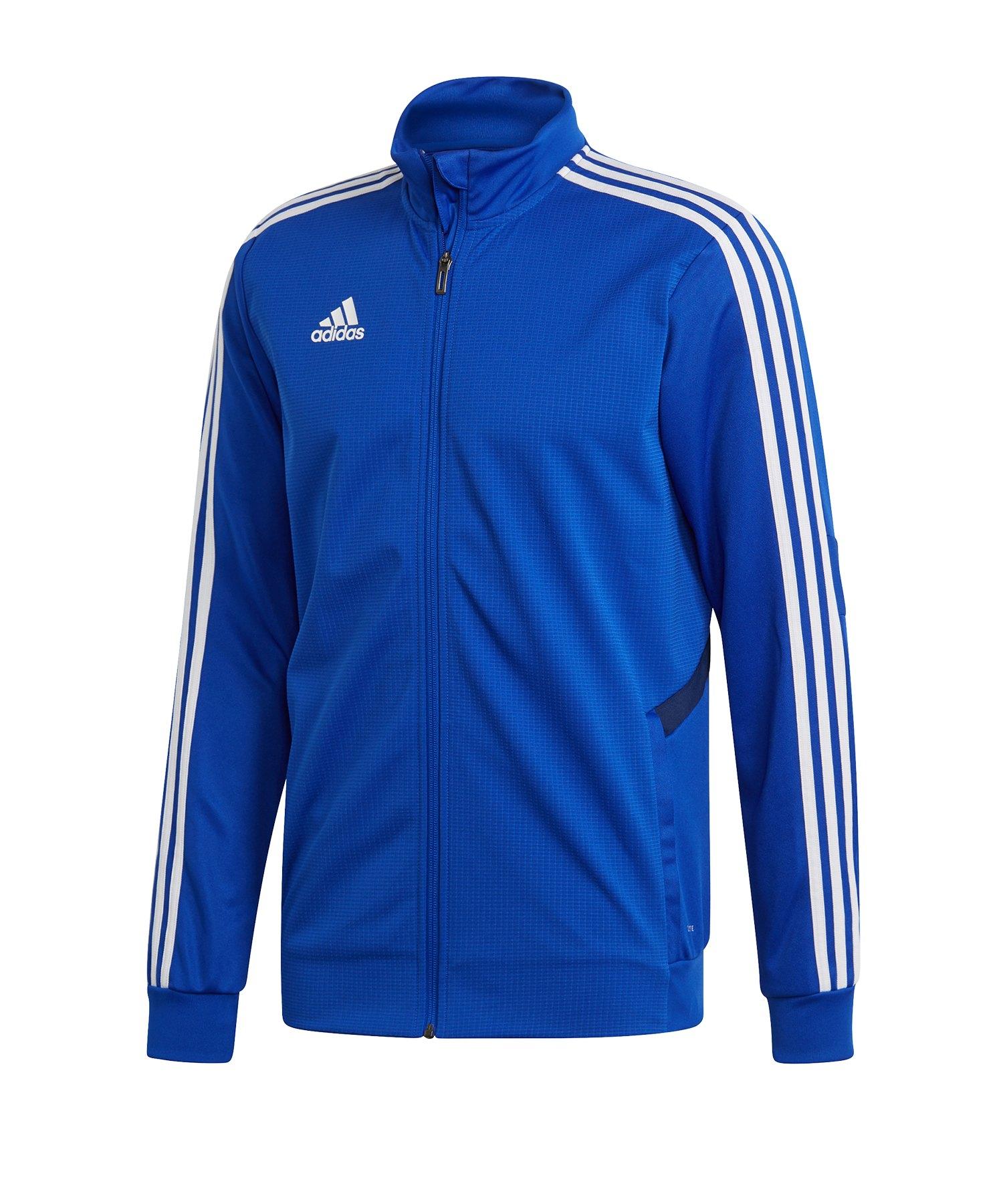 adidas Tiro 19 Trainingsjacke Blau Weiss - blau