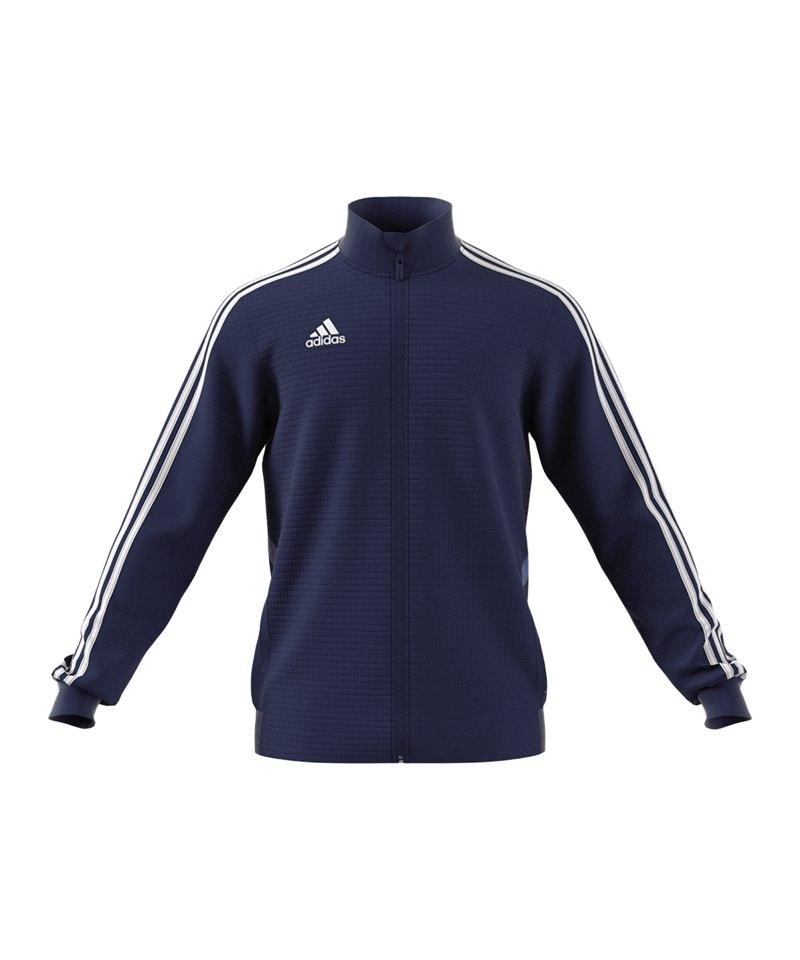 adidas Tiro 19 Trainingsjacke Dunkelblau Weiss - blau