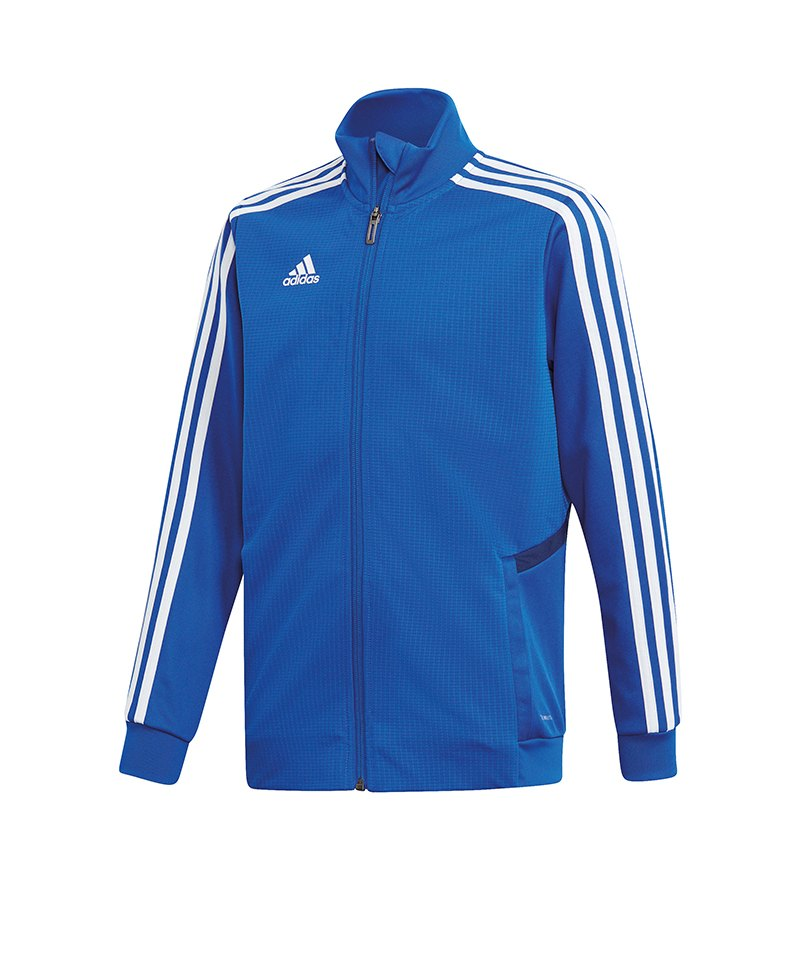 adidas Tiro 19 Trainingsjacke Kids Blau Weiss - blau