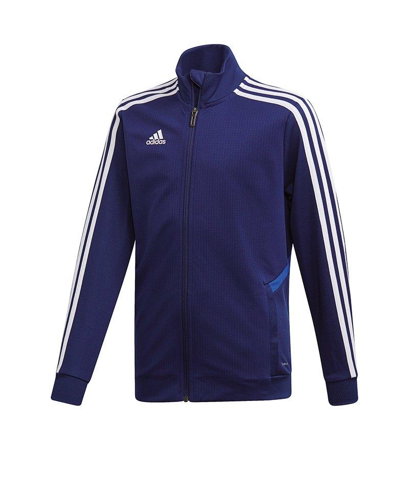 adidas Tiro 19 Trainingsjacke Kids Dunkelblau - blau