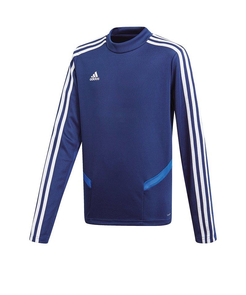 adidas Tiro 19 Trainingstop Dunkelblau Weiss - blau