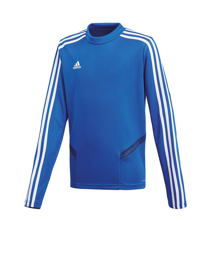 adidas Tiro 19 Trainingstop Kids Blau Weiss - blau