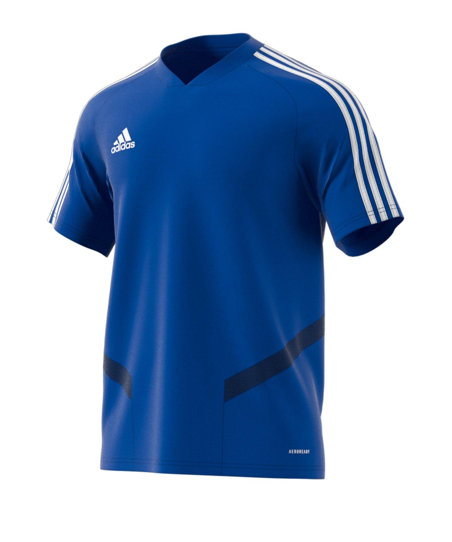 adidas Tiro 19 Trainingsshirt Blau Weiss - blau