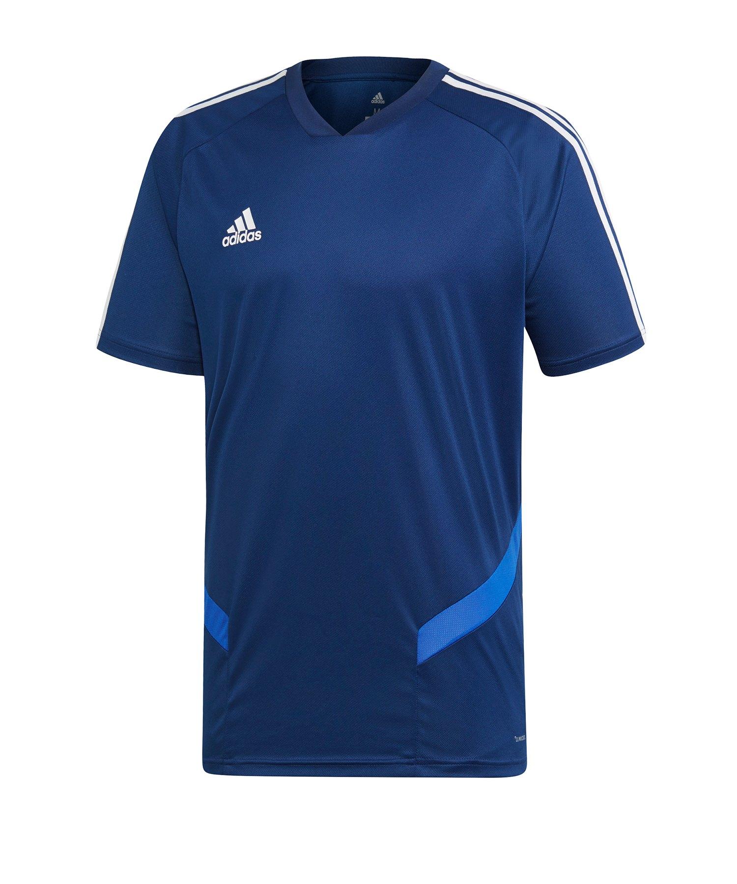 adidas Tiro 19 Trainingsshirt Dunkelblau Weiss - blau