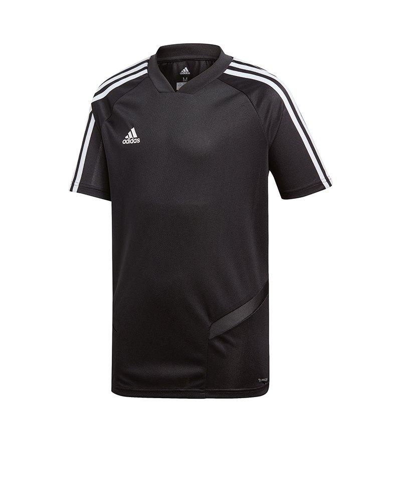 adidas Tiro 19 Trainingsshirt Schwarz Weiss - schwarz