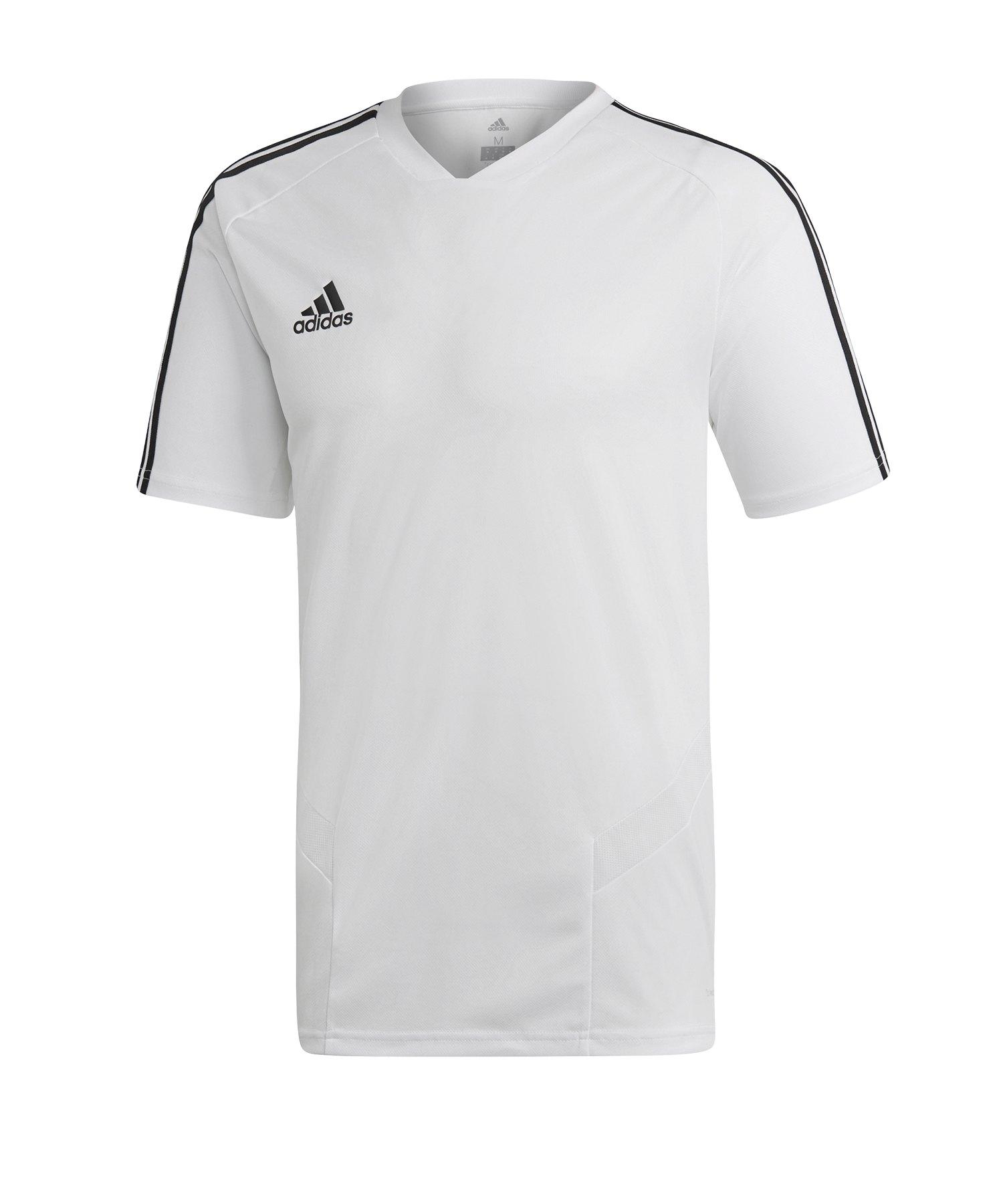 adidas Tiro 19 Trainingsshirt Weiss Schwarz - weiss