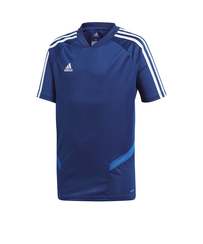 adidas Tiro 19 Trainingsshirt Kids Dunkelblau - blau
