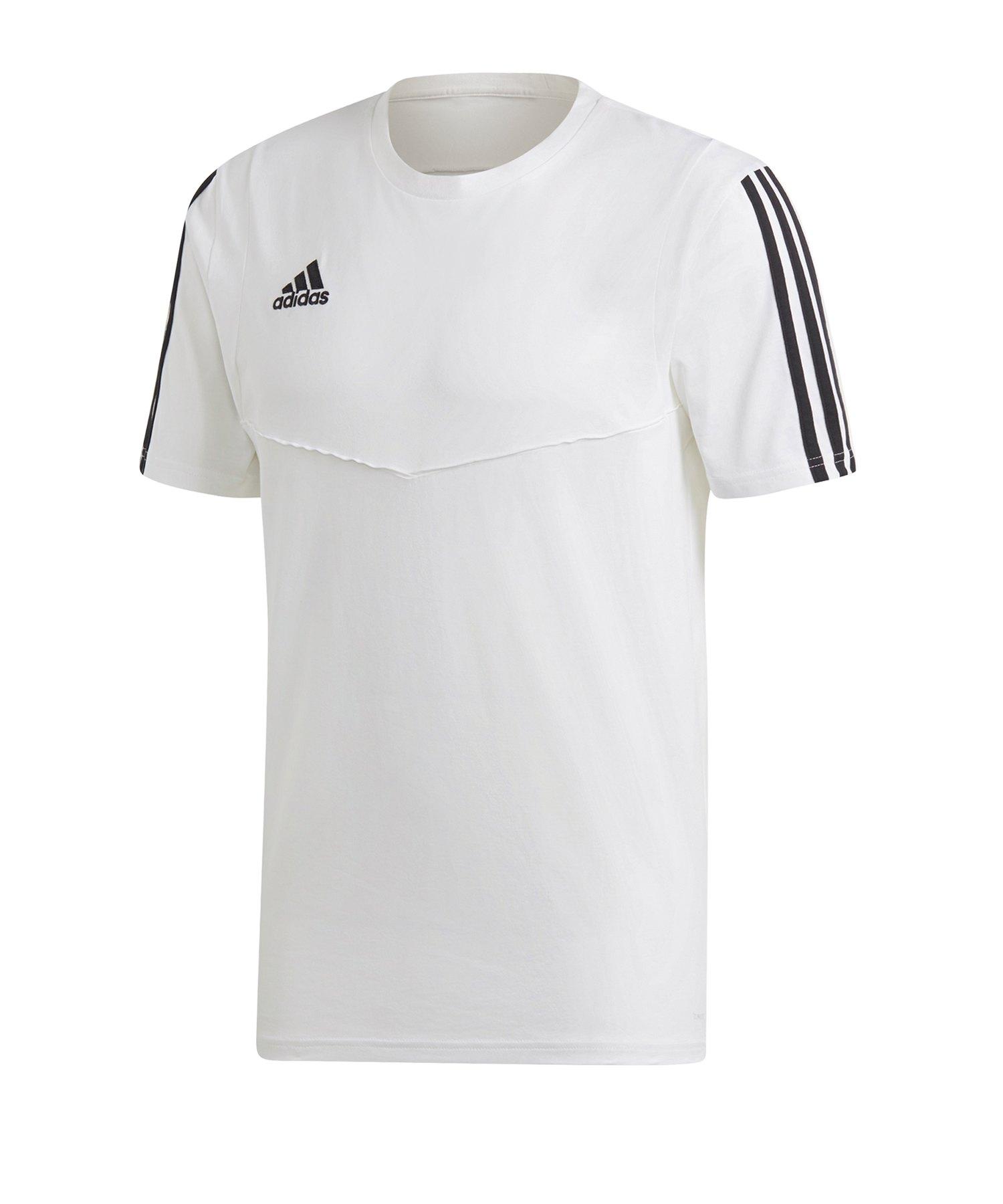 adidas Tiro 19 Tee T-Shirt Weiss Schwarz - weiss