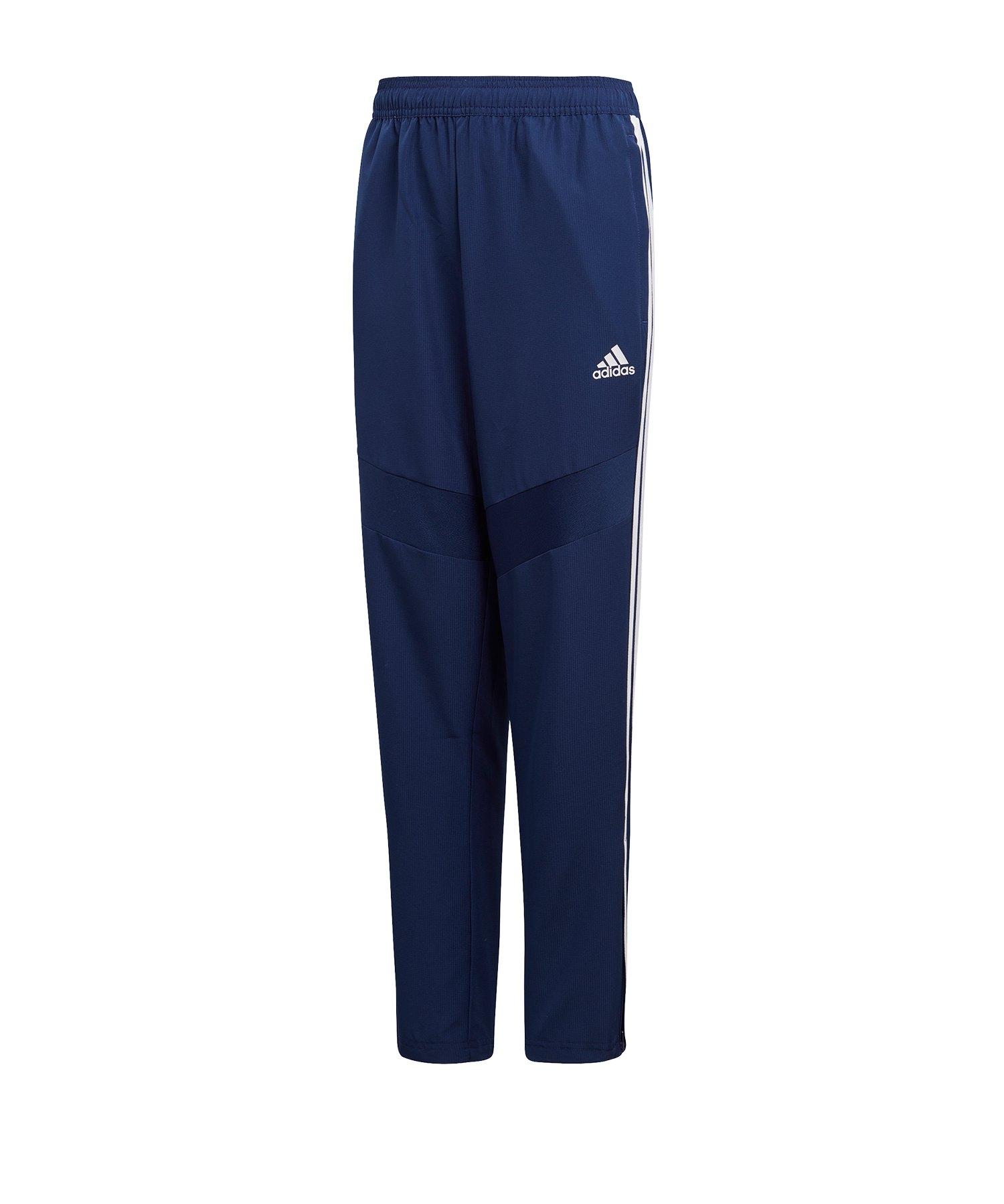 adidas Tiro 19 Woven Pant Kids Dunkelblau Weiss - blau