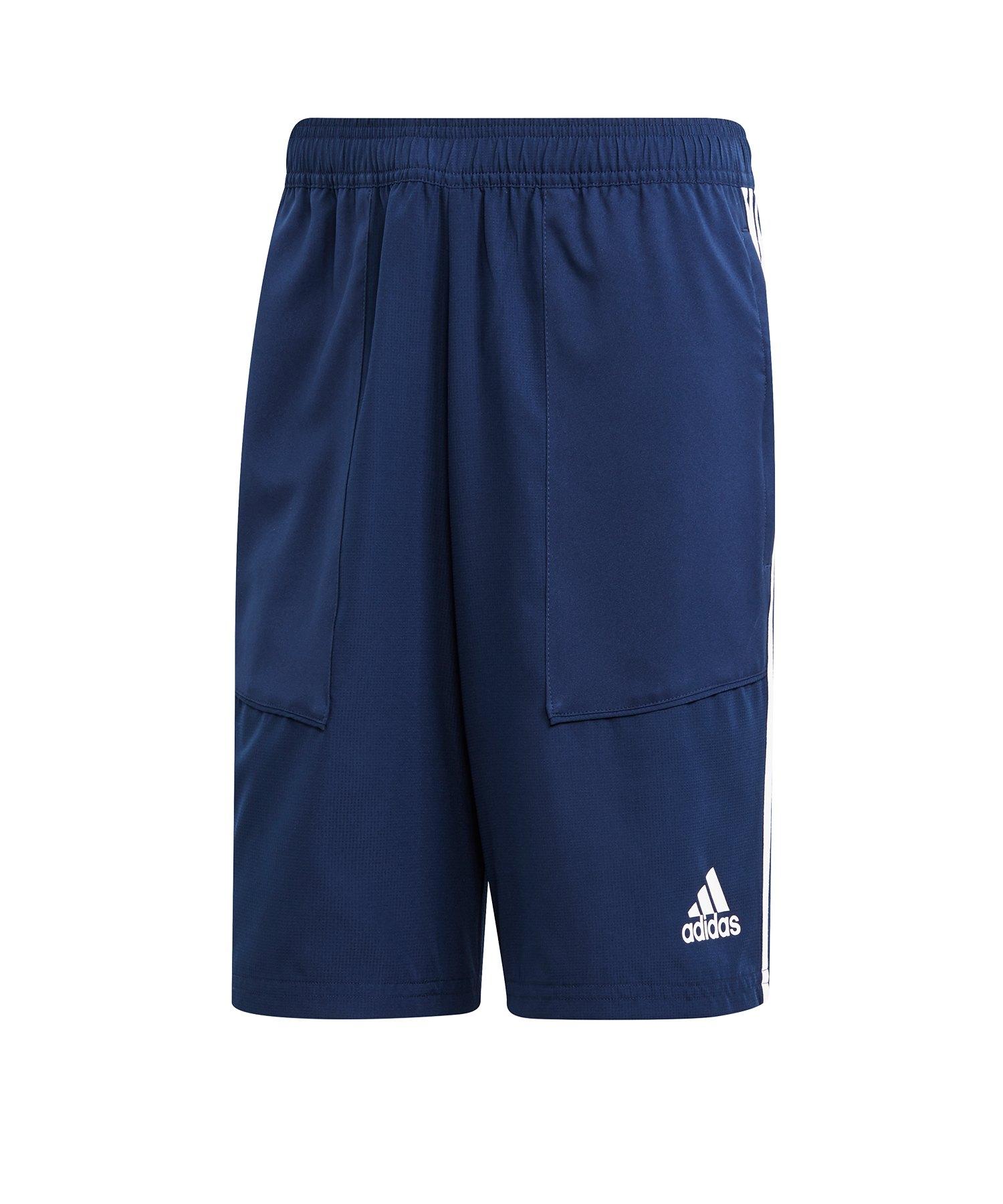 adidas Tiro 19 Woven Short Dunkelblau Weiss - blau