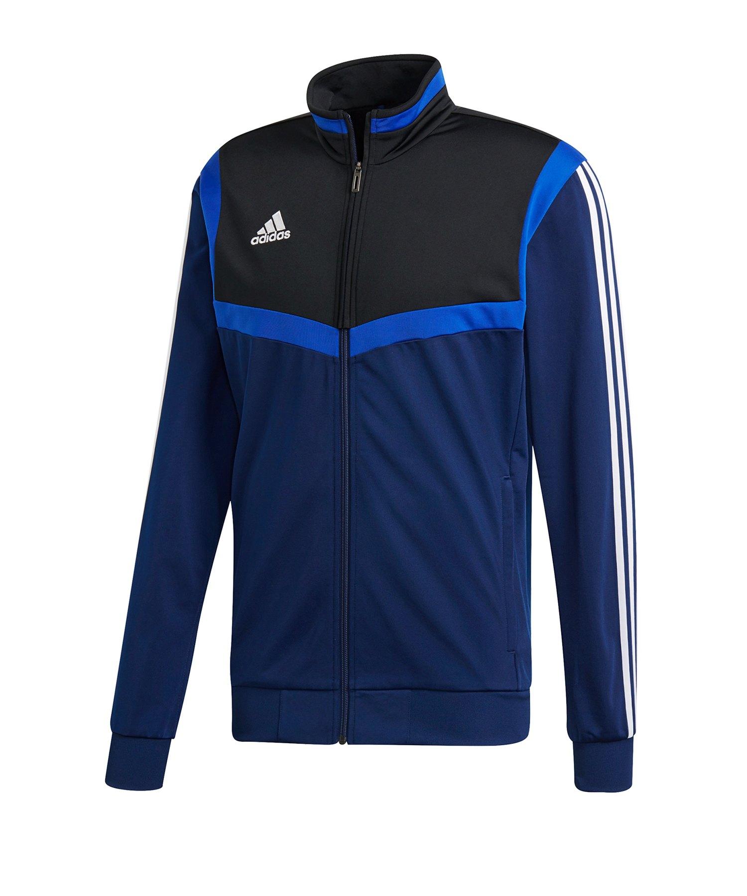 adidas Tiro 19 Polyesterjacke Dunkelblau Weiss - blau