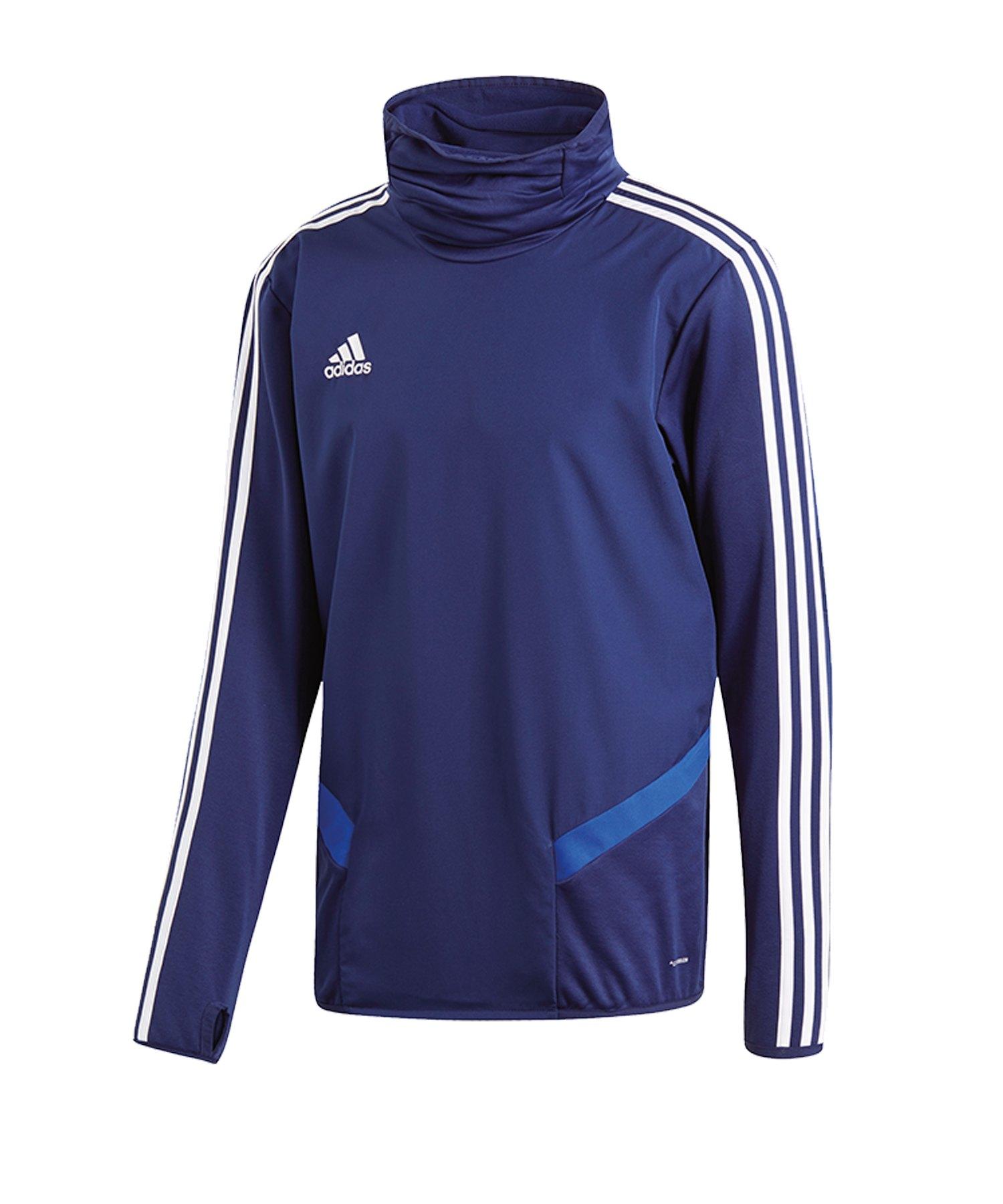 adidas Tiro 19 Warm Top Sweatshirt Dunkelblau - blau
