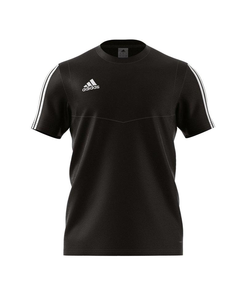 adidas Tiro 19 Tee T-Shirt Schwarz Weiss - schwarz