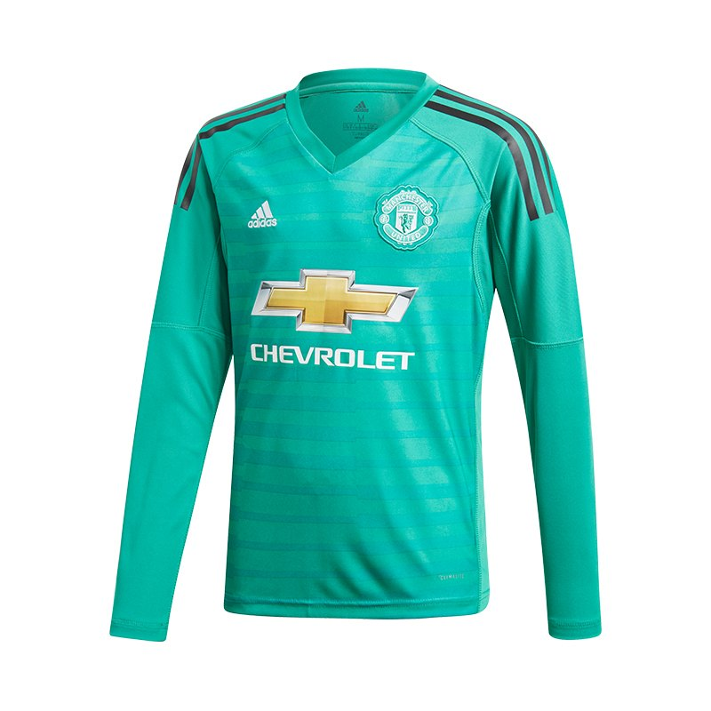 adidas Manchester United TW-Trikot Home Kids 2018/2019 Grün - gruen