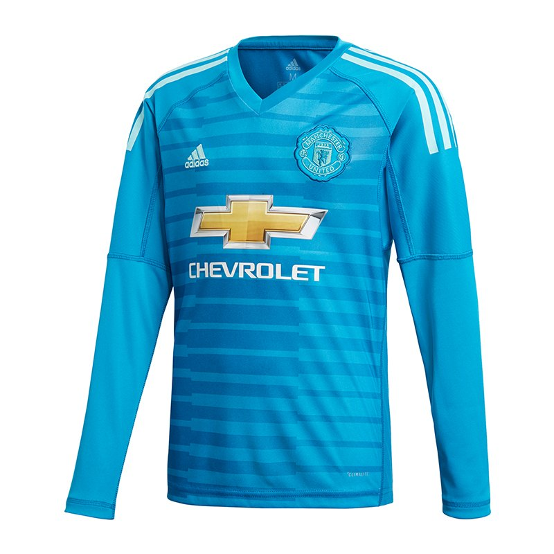 adidas Manchester United TW-Trikot Away Kids 2018/2019 Blau - blau