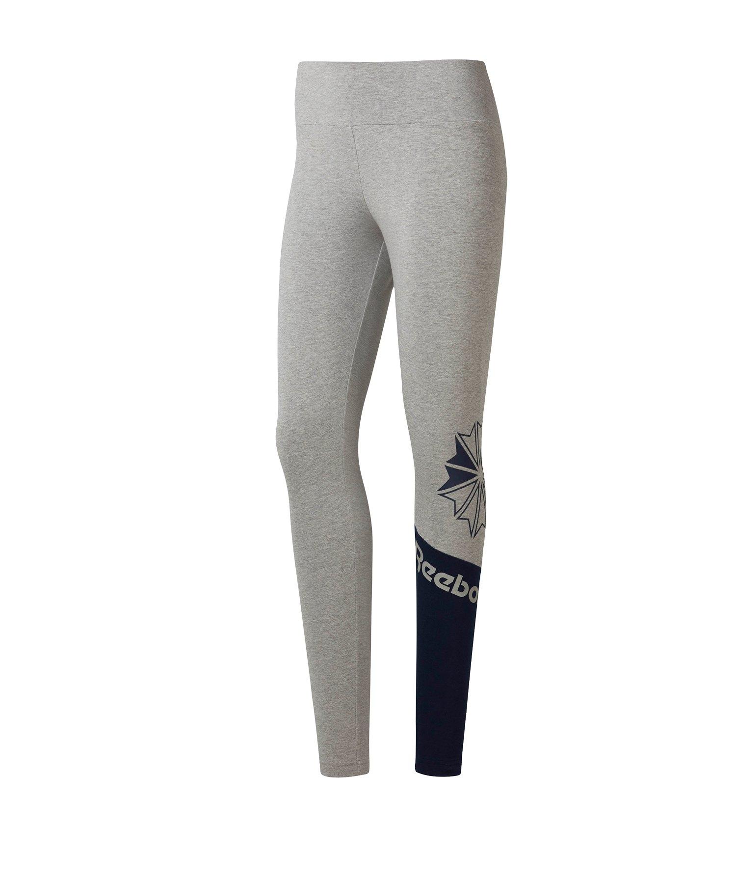 Reebok AC Logo Leggings Damen Grau - grau