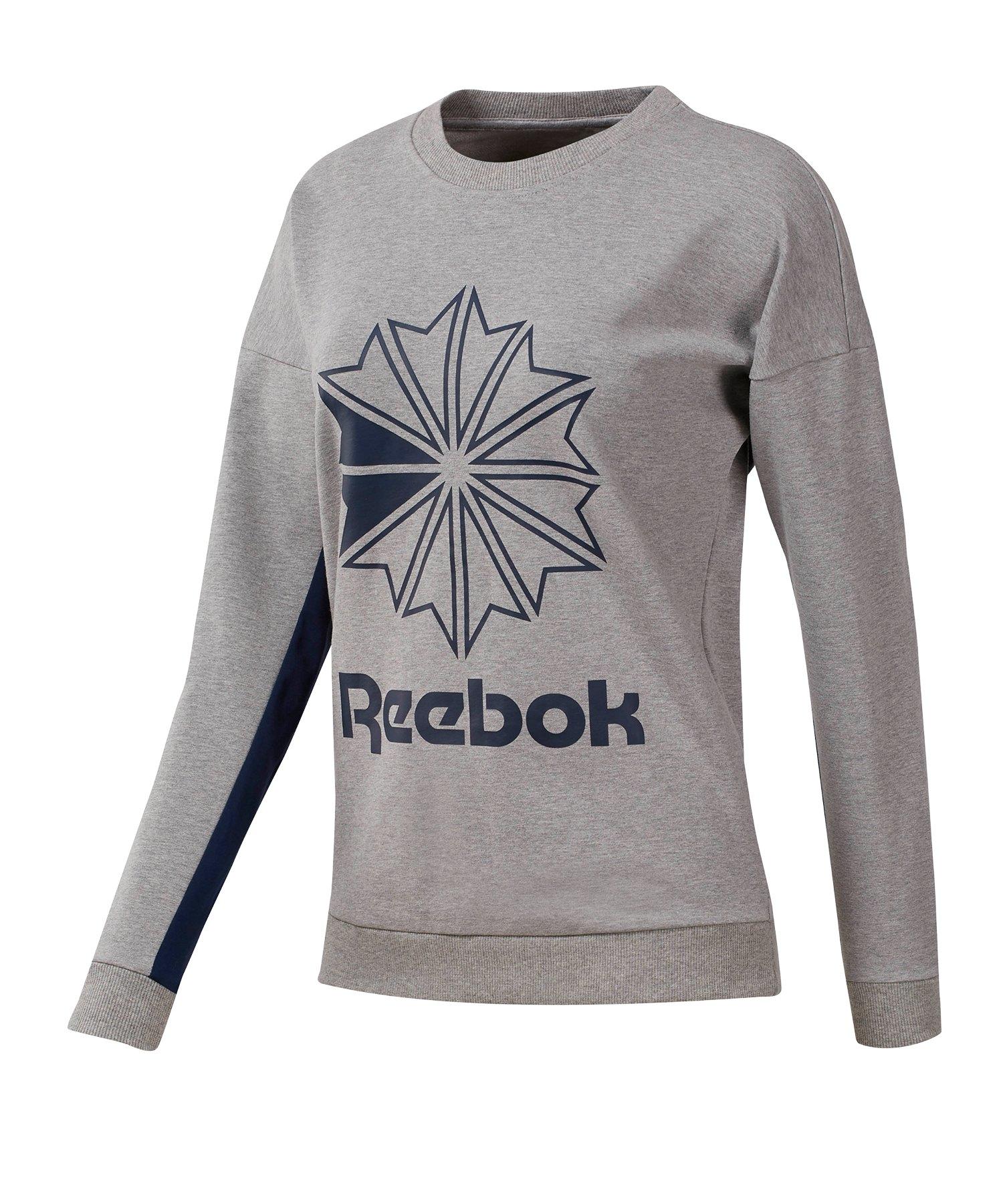 Reebok Classics FT Big Logo Sweatshirt Damen Grau - grau