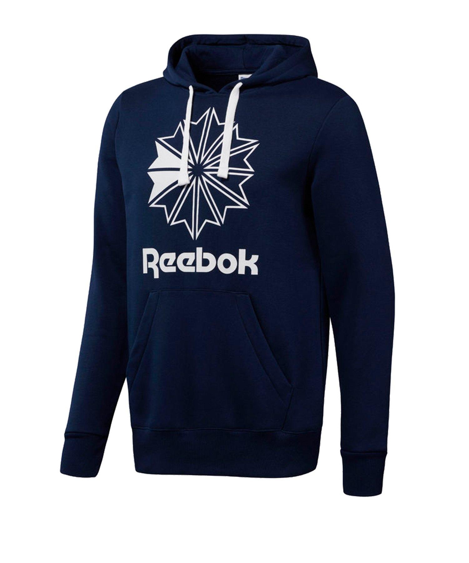 Reebok Classics Big Logo Kapuzensweatshirt Blau - blau