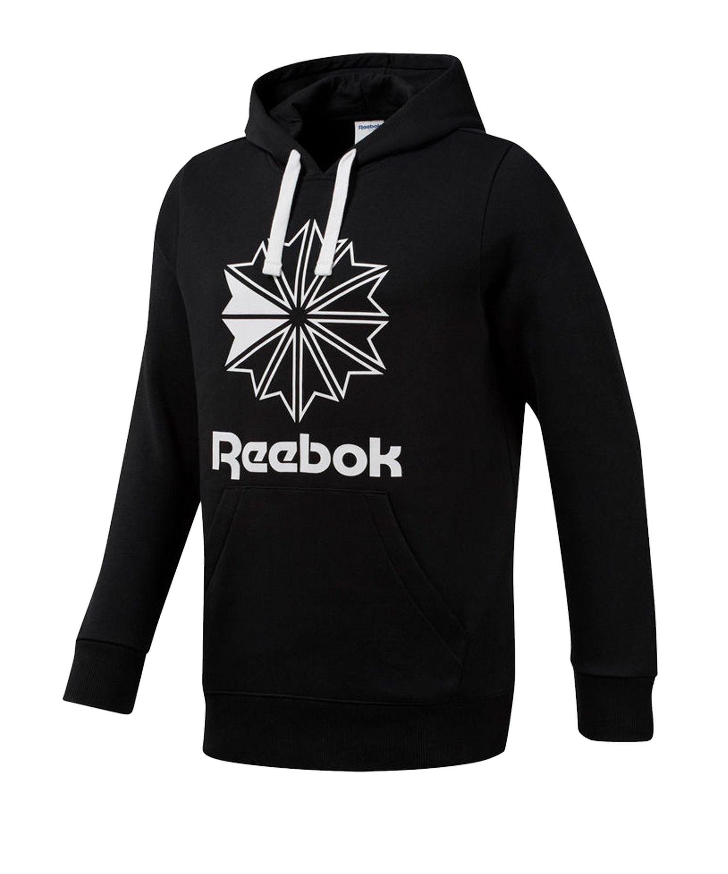 Reebok Classics Big Logo Kapuzensweatshirt Schwarz - schwarz