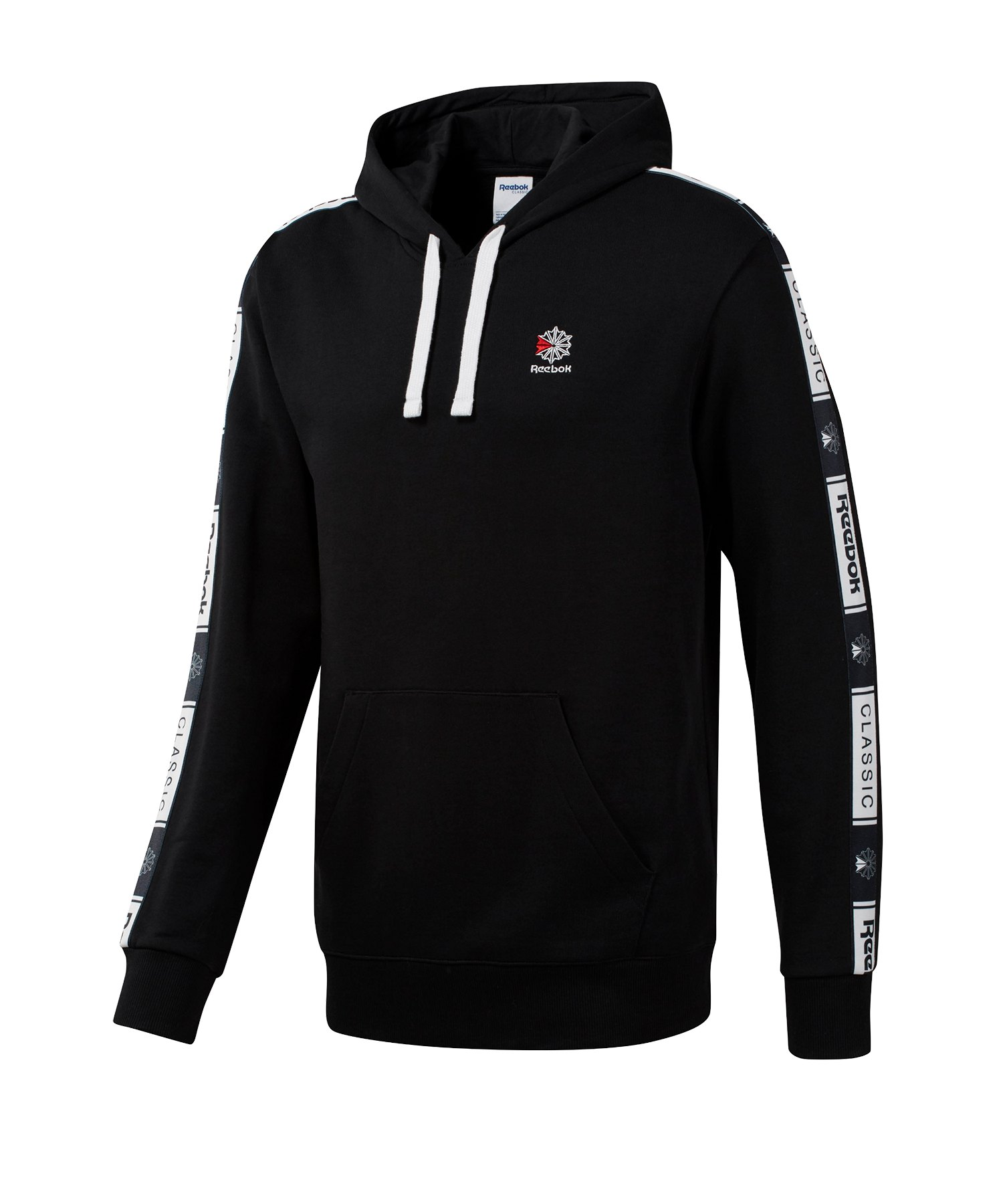 Reebok Classics Taped Kapuzensweatshirt Schwarz - schwarz
