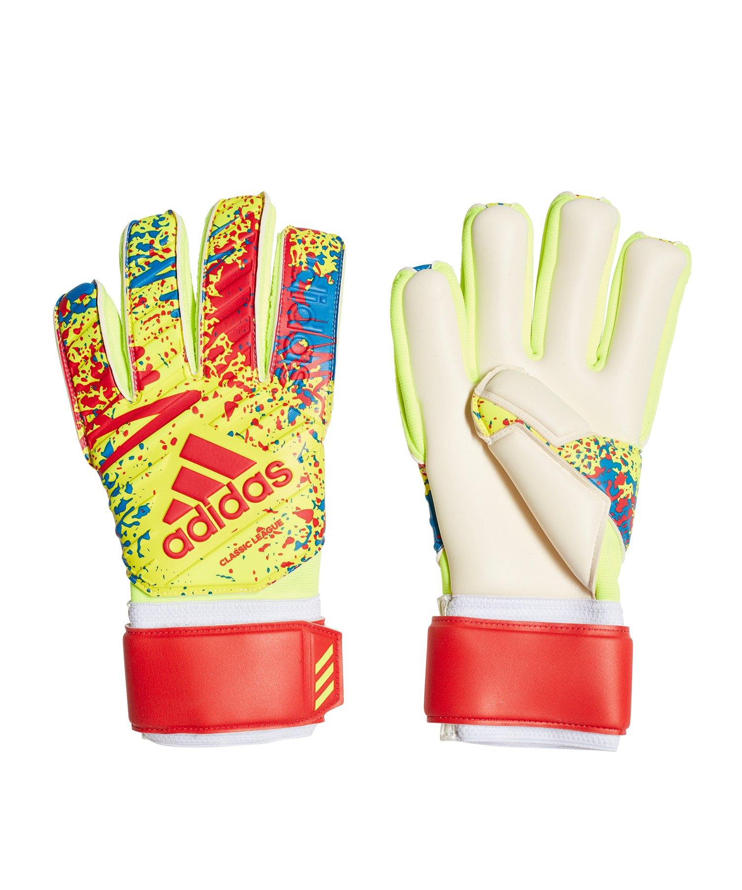 adidas Classic League TW-Handschuh Gelb Rot - gelb